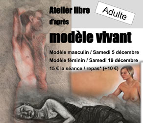 Atelier de modèle vivant de Lisa Strong Fonds Labegorre Seignosse